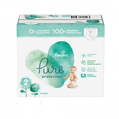 405 Couches Pampers Pure Protection taille 2 sur Sos Couches