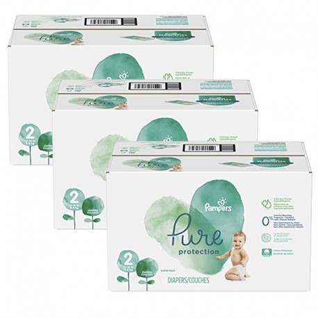 432 Couches Pampers Pure Protection taille 2 sur Sos Couches