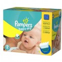 138 Couches Pampers Baby Dry taille 2 sur Sos Couches