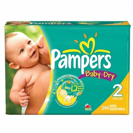 230 Couches Pampers Baby Dry taille 2 sur Sos Couches