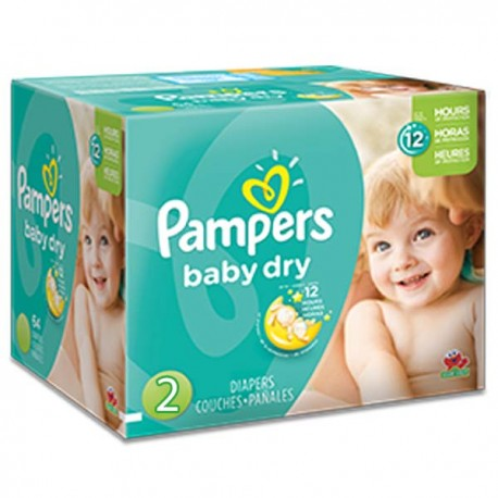 322 Couches Pampers Baby Dry taille 2 sur Sos Couches