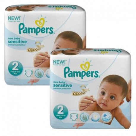 420 Couches Pampers New Baby Sensitive taille 2 sur Sos Couches