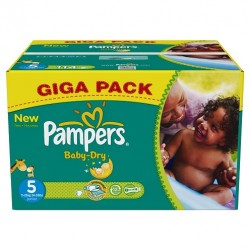 286 Couches Pampers Baby Dry taille 5