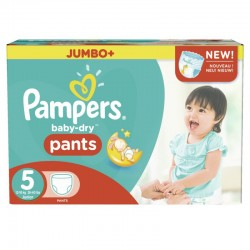 104 Couches Pampers Baby Dry Pants taille 5
