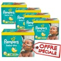 336 Couches Pampers Baby Dry taille 5+ sur Sos Couches
