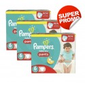112 Couches Pampers Baby Dry Pants taille 6 sur Sos Couches