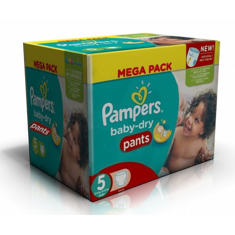 192 Couches Pampers Baby Dry Pants taille 5 sur Sos Couches