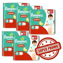 Mega pack Couches Pampers Baby Dry Pants taille 6