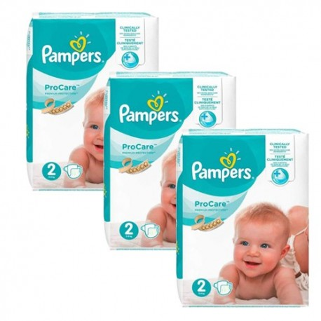 324 Couches Pampers ProCare Premium protection taille 2 sur Sos Couches