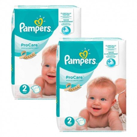 396 Couches Pampers ProCare Premium protection taille 2 sur Sos Couches