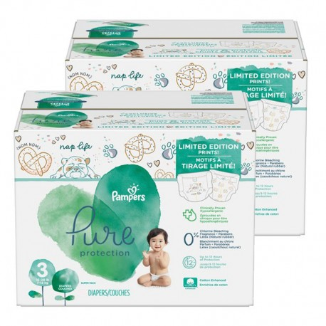88 Couches Pampers Pure Protection taille 3 sur Sos Couches