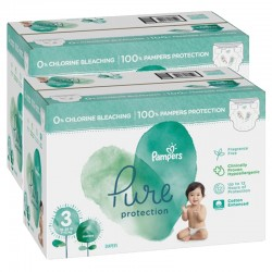 132 Couches Pampers Pure Protection taille 3