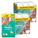 Maxi giga pack 136 Couches Pampers Active Baby Dry taille 3 sur Sos Couches