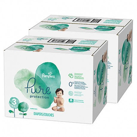 154 Couches Pampers Pure Protection taille 3 sur Sos Couches