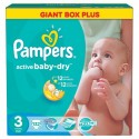 272 Couches Pampers Active Baby Dry taille 3 sur Sos Couches