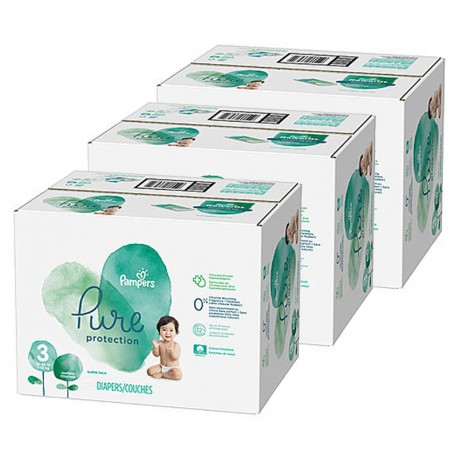 176 Couches Pampers Pure Protection taille 3 sur Sos Couches