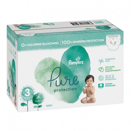 220 Couches Pampers Pure Protection taille 3 sur Sos Couches