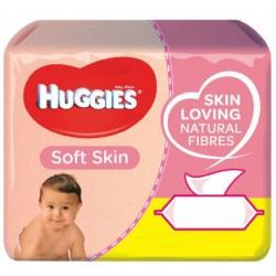 168 Lingettes Bébés Huggies Soft Skin