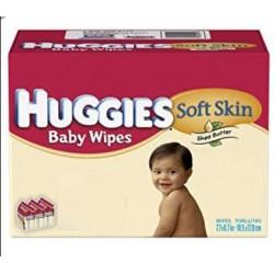 504 Lingettes Bébés Huggies Soft Skin
