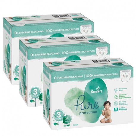 352 Couches Pampers Pure Protection taille 3 sur Sos Couches