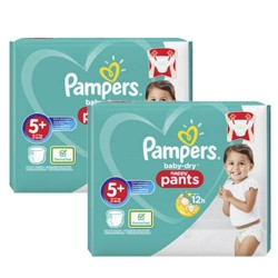 102 Couches Pampers Baby Dry Pants taille 5+
