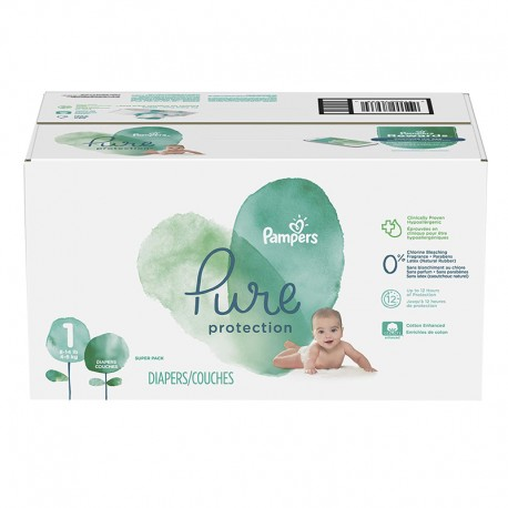 175 Couches Pampers Pure Protection taille 1 sur Sos Couches