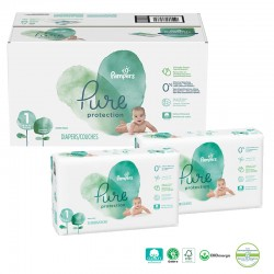 210 Couches Pampers Pure Protection taille 1