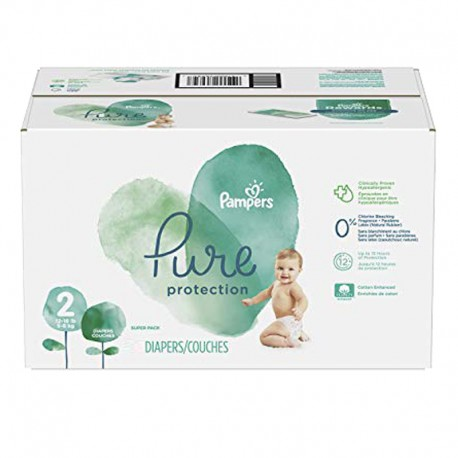 54 Couches Pampers Pure Protection taille 2 sur Sos Couches