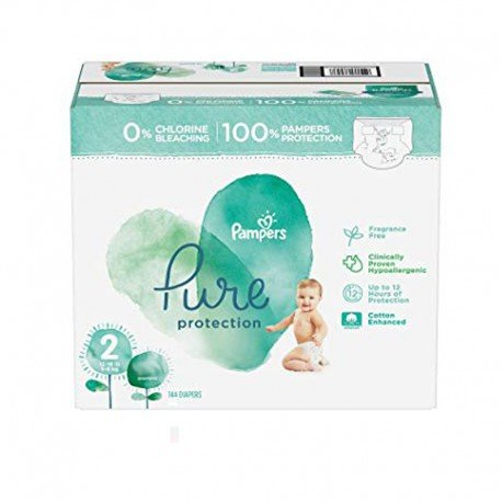 81 Couches Pampers Pure Protection taille 2 sur Sos Couches