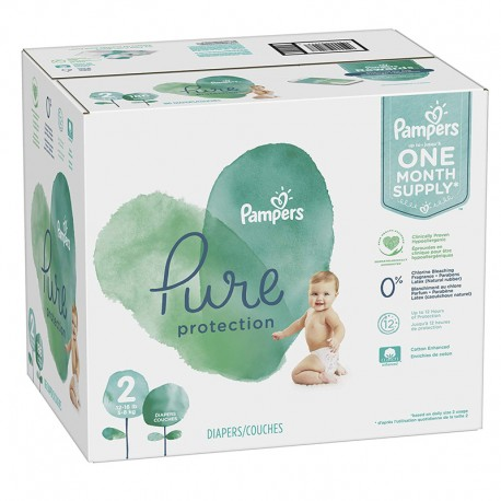 108 Couches Pampers Pure Protection taille 2 sur Sos Couches