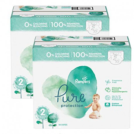 162 Couches Pampers Pure Protection taille 2 sur Sos Couches