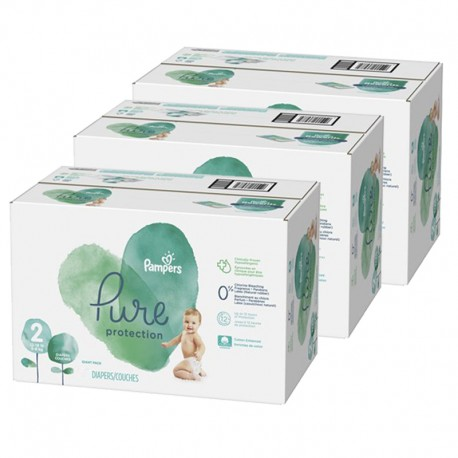 270 Couches Pampers Pure Protection taille 2 sur Sos Couches