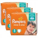 Maxi mega pack Couches Pampers Sleep & Play taille 5 sur Sos Couches