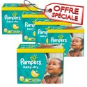 196 Couches Pampers Baby Dry taille 5+ sur Sos Couches