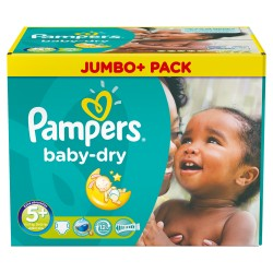 336 Couches Pampers Baby Dry taille 5+