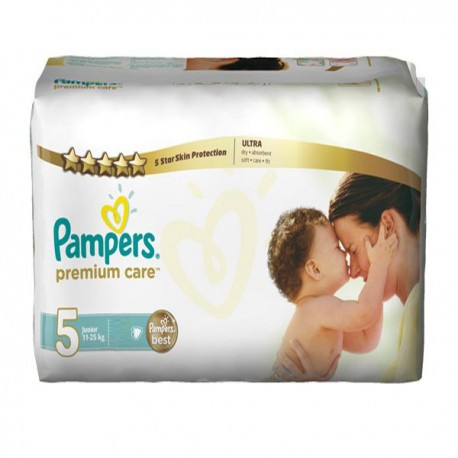 30 Couches Pampers Premium Care taille 5 sur Sos Couches