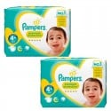 147 Couches Pampers New Baby Premium Protection taille 4+ sur Sos Couches