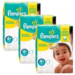 378 Couches Pampers New Baby Premium Protection taille 4+