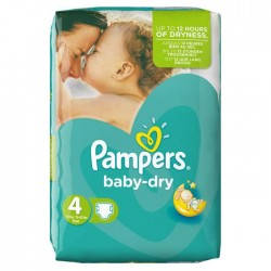 23 Couches Pampers Baby Dry taille 4
