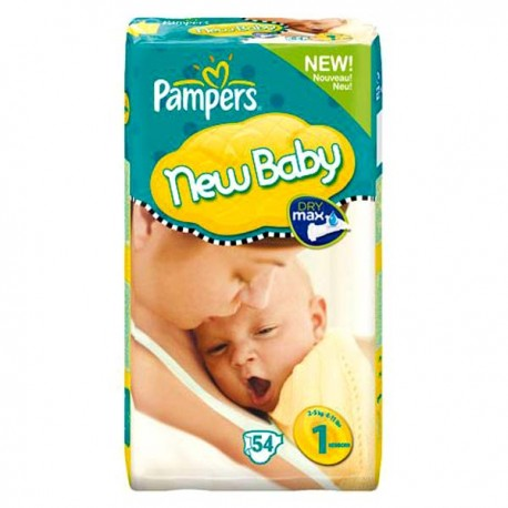 56 Couches Pampers New Baby Premium Protection taille 1 sur Sos Couches