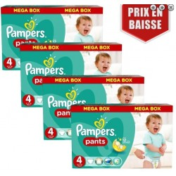 240 Couches Pampers Baby Dry Pants taille 4