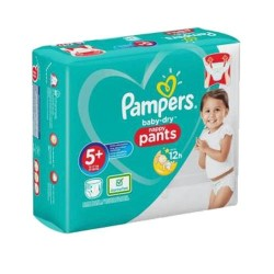 72 Couches Pampers Baby Dry Pants taille 5+
