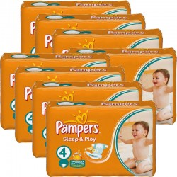 350 Couches Pampers Sleep & Play taille 4