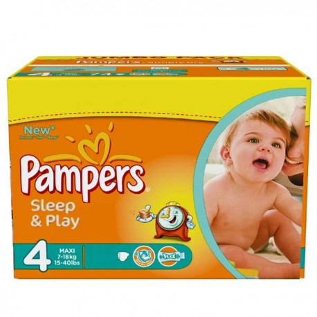 450 Couches Pampers Sleep & Play taille 4 sur Sos Couches