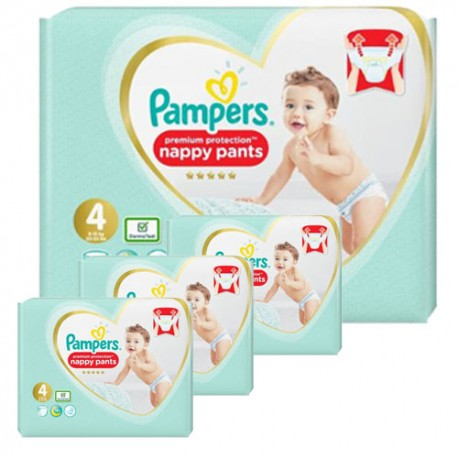 190 Couches Pampers Premium Protection Pants taille 4 sur Sos Couches
