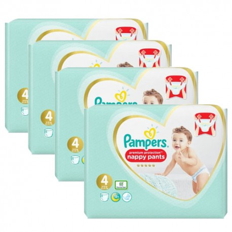 228 Couches Pampers Premium Protection Pants taille 4 sur Sos Couches