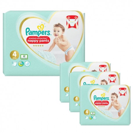 380 Couches Pampers Premium Protection Pants taille 4 sur Sos Couches