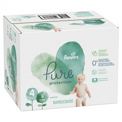 114 Couches Pampers Pure Protection taille 4
