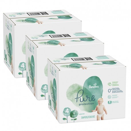 152 Couches Pampers Pure Protection taille 4 sur Sos Couches