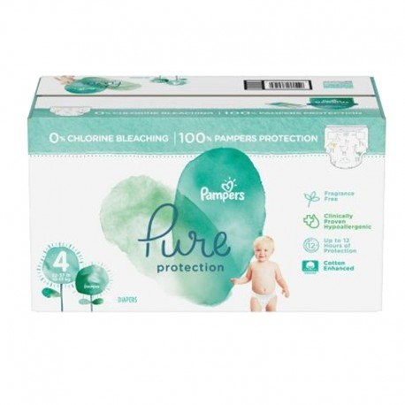 209 Couches Pampers Pure Protection taille 4 sur Sos Couches